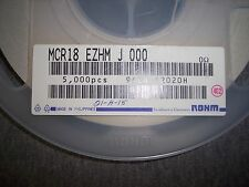QTY (200) 1206 0 Ohm 1/8W JUMPER CHIP RESISTORS MCR18EZHMJ000 ROHM ZERO Ohm