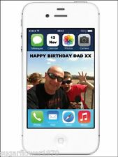 Personalised Mobile Phone i phone Own Photo Edible Birthday Cake Topper