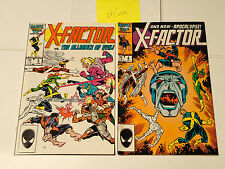 X-FACTOR Vol. 1  lot of 2 issues #5 & 6 1986 Marvel Comics 1st  Apocalypse VF/NM
