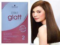 """SCHWARZKOPF GLATT STRAIT PERMANENT STRAIGHT HAIR CREAM STRAIGHTENER CURLY """"2"""""""