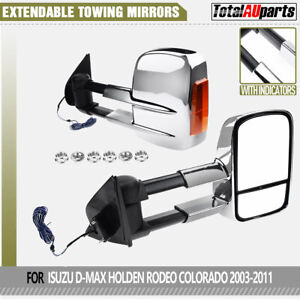 Manual Extendable Towing Mirrors for Isuzu D-Max DMax Holden Rodeo Colorado RC