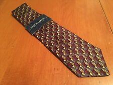 "NWT new Oscar De La Renta Men's Geometric Silk Tie Necktie 59"" 4"""