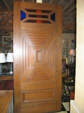 """Antique Arts and Crafts Door- 95""""H x 42""""W. pattern wood design on front and back"""