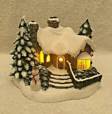 "Thomas Kinkade ""A Village Christmas"" Cottage Painter of Light 2002 Teleflora"
