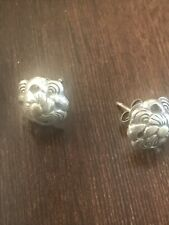 Flower Pierced Earring Studs Vintage Sterling Silver 925