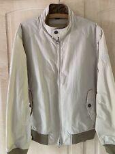 Men's Barbour International Steve McQueen Rectifier Harrington Jacket Fog Large