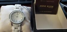 Anne Klein New York 12/2109WTWB White Ceramic Dress Women's Watch  $250