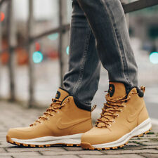 New NIKE Manoa Mens Leather winter work hiking sneaker boots wheat 8-13