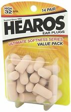 *NEW PACKAGING* - Hearos Ultimate Softness Series Ear Plugs, 14 Pair, USA Made