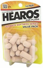 *Hearos* - Ultimate Softness Series Ear Plugs, 14 Pair, USA Made VALUE PACK!!