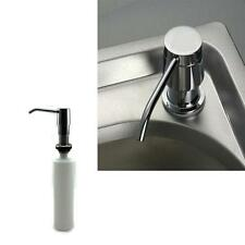 Soap Dispenser Stainless Steel Bottles Liquid Sink Kitchen Pump Bathroom Lotions