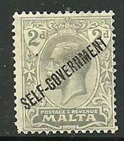 Album Treasures Malta Scott # 89   2p George V Overprint Mint Hinged