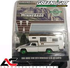 CHASE GREENLIGHT 30189 1:64 1966 DODGE D100 W/ WINNEBAGO CAMPER