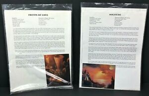 W Alexander Oil Painting Instructional Packet Lot 2 Fruits of Love Solitude Art