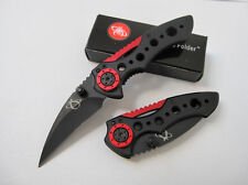 Black&Red Folding Knife Survival Rescue Pocket Saber Camping Fishing Travel Gift