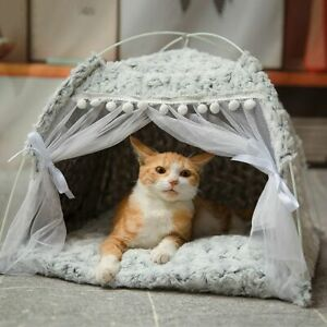 Pet products cat bed the general tee pee closed cat tent pet house accessories