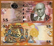 Bahamas, 5 dollars, 2013, P-New, UNC
