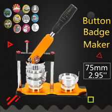 75mm(2.95'') Button Badge Maker Press Machine 100Pcs Pin Buttons Bags Key Chains