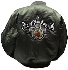 City Of Los Angeles Seal Jacket Size Large Color Olive Green