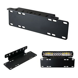 Heavy Duty Front Bumper License Plate Mount Bracket Holder For LED Light Bar