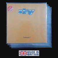 "100 12"" Polythene Record Sleeves - 250g Gauge Plastic Vinyl Album Covers"