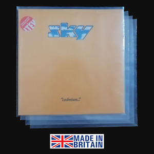 "10 12"" Polythene Record Sleeves - 250g Gauge Plastic Vinyl Album Covers"