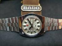 RARE VINTAGE 70'S RADO N19 SILVER DIAL DAYDATE AUTO MAN'S WATCH