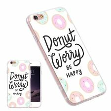 Cute Donut Pattern Slim Phone Case Cover For iPhone Samsung Huawei LG HTC Sony