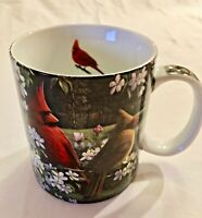 Cardinal Birds Reflective Art Coffee Mug Country Music by Kim Norlien Ceramic
