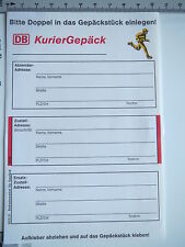 Aufkleber Sticker DB - Kuriergepäck - Kofferaufkleber - Gepäckanhänger (5598)