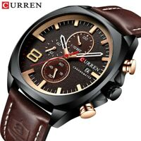 CURREN Men Leather Quartz Watches Casual Business Watch Male Calendar Wristwatch