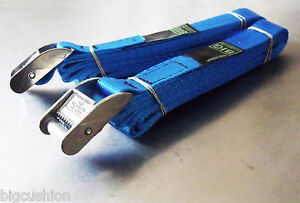 2-pack of 3.0m TOUGH Cam Buckle Straps Blue - Trailer Cargo Tie-down Lashings