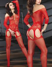 Sexy Fishnet Body stocking Babydoll Lingerie Dress Underwear Teddy Bodysuit 6-12