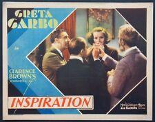 INSPIRATION GRETA GARBO PRE-CODE 1931 LOBBY CARD