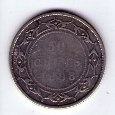 1888 Newfoundland Sterling Silver 50 cent Queen Victoria