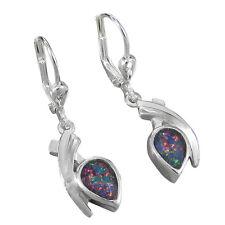 Schmuck-Michel Damen Ohrhänger Silber 925 Opal-Triplette Tropfen 7x5 mm (1000)