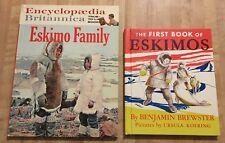Vintage Lot of 2 Eskimo Children's Hardcover Books 1952 - 1962