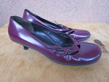 MIU MIU Mary Jane Heels Shoes Plum Purple Colored Size US 9.5 EUR 40