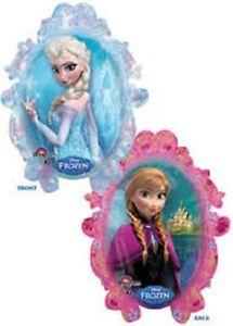 "XL 31"" Frozen Anna & Elsa Disney Super Shape Mylar Foil Balloon Party Decoration"