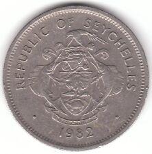 Seychelles 1 RUPIA 1982 moneta di rame-nichel-Triton CONCHIGLIA SHELL