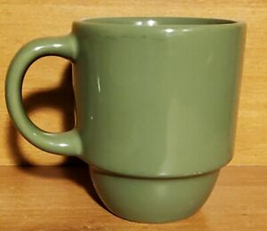 "Mainstays STACKABLES GREEN Mug, 14 oz / 4 1/4"" Stoneware, Very good"