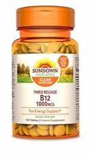 Sundown Vitamin B-12, Energy Support, Vegetarian, 1000 mcg, 120 Time Release ...
