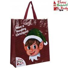 Grande Rojo elfo Compras Bolsa Regalo Tienen Un Travieso Navidad BEHAVIN MAL