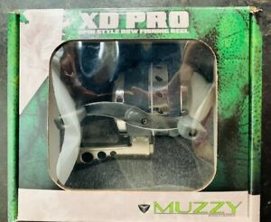 Muzzy 1069-XD PRO Spin Style Bow Fishing Reel / Stainless Steel Saltwater Rated