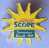 Scope Summer Bash 1999 Advertising Pin Badge Rare Vintage (F6)