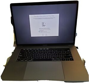Apple MacBook Pro 2017 Space Gray 15? Touch Bar 256gb SSD 16gb RAM 2.8ghz I7-