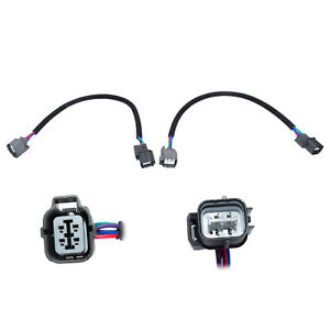 For Honda Civic Accord Integra O2 Oxygen Sensor Extension Harness 4 Wire 2Pcs