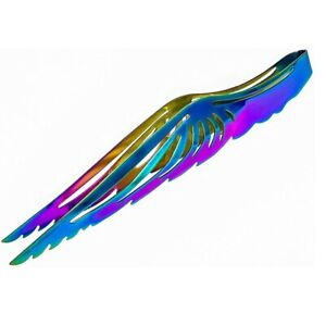 Shisha Kohlezange Edelstahl, Shisha Zange Anger Components regenbogenfarben 23cm