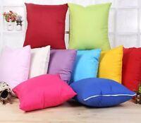 Mulitcoloured Bright Solid Colour Cushion Cover Pillow Cover Sofa 45cm x 45cm