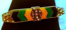 PIERRE BEX Stunning Vintage Brooch Pin Art Deco Geometric~ Trombone Clasp
